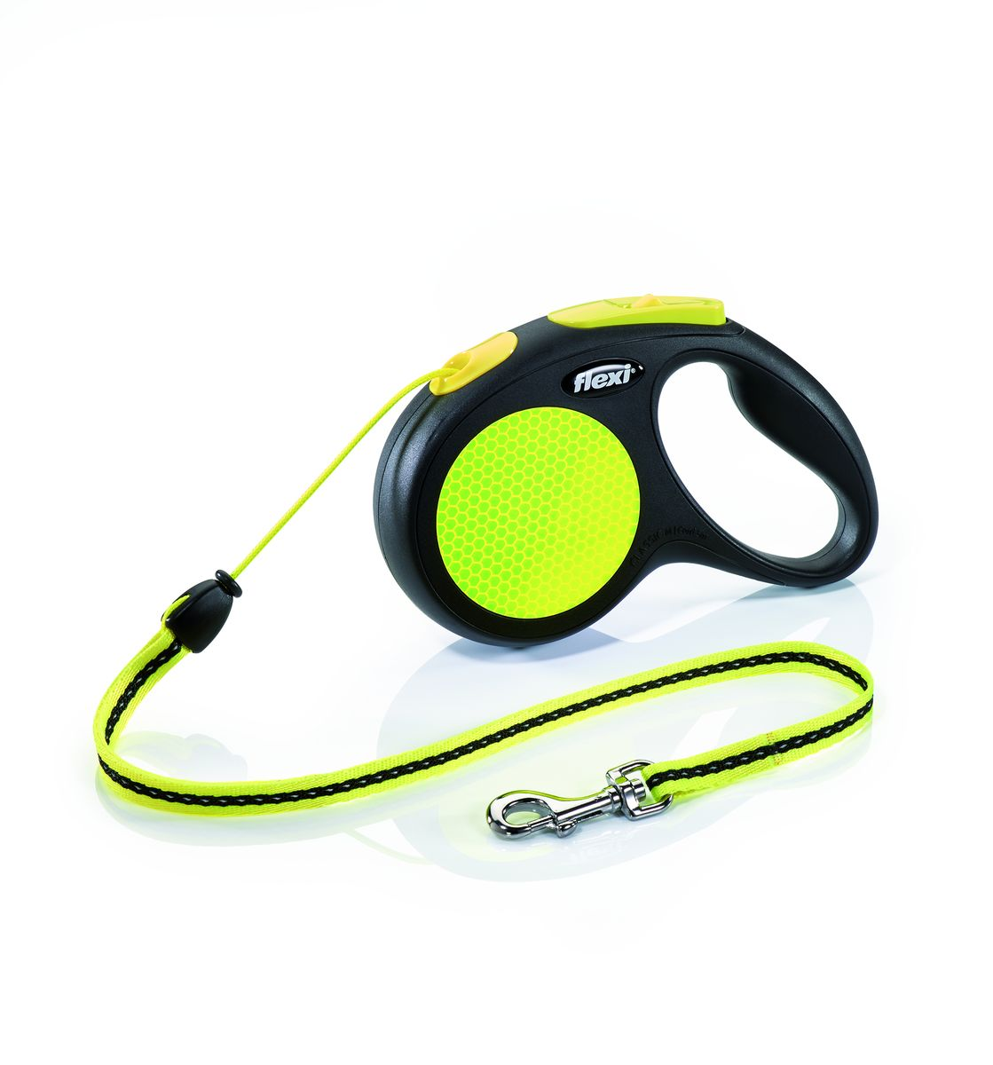 "Поводок-рулетка Flexi ""Neon New Classic М"", трос, для собак весом до 20 кг, 5 м"