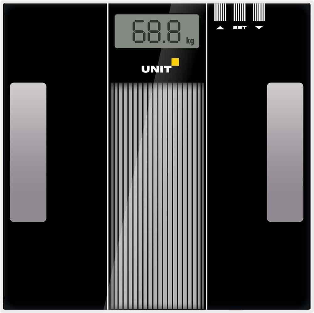 Напольные весы Unit UBS-2210, BlackCE-0462776Напольные электронные весы Unit UBS-2210 - неотъемлемый атрибут здорового образа жизни. Они необходимы тем, кто следит за своим здоровьем, весом, ведет активный образ жизни, занимается спортом и фитнесом. Очень удобны для будущих мам, постоянно контролирующих прибавку в весе, также рекомендуются родителям, внимательно следящим за весом своих детей. Минимальная нагрузка: 2 кг Батарейка входит в комплект.