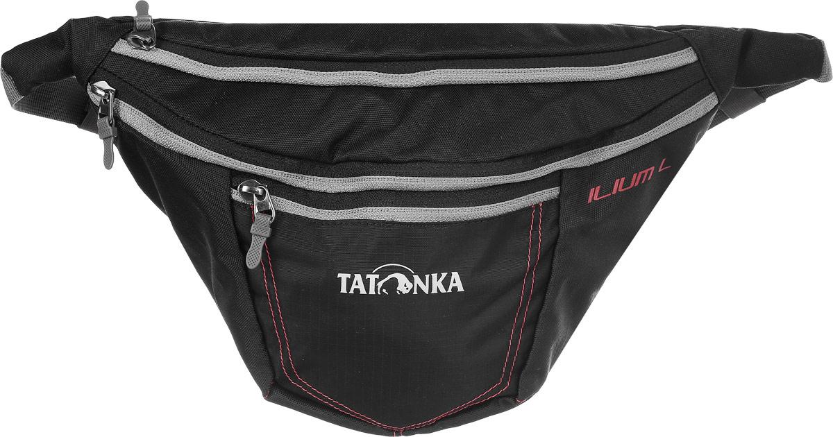 Сумка поясная Tatonka Ilium L, цвет: черный сумка для фотокамеры tatonka protection pouch l
