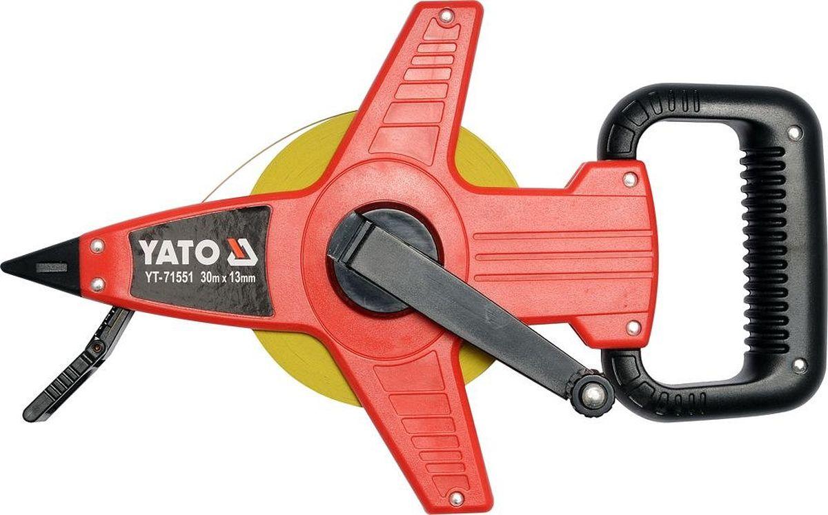 Рулетка мерная Yato, геодезическая, 50 м х 13 мм