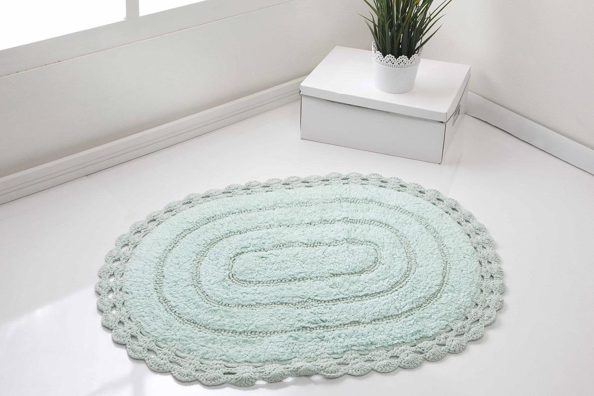 "Коврик для ванной Karna ""Modalin. Yana"", цвет: светло-зеленый, 60 х 100 см"