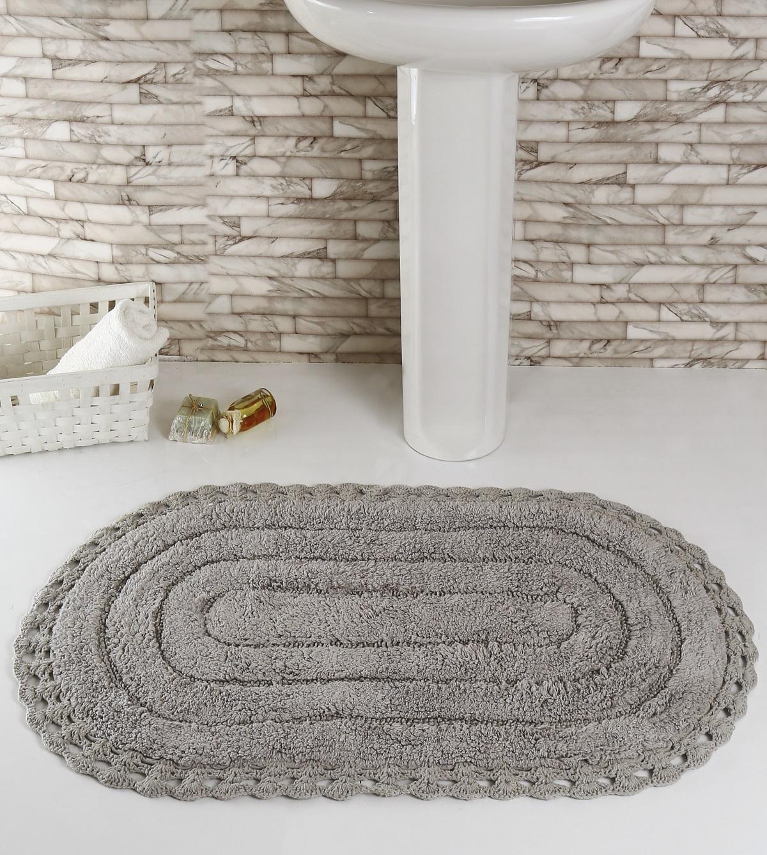 """Коврик для ванной Karna """"Modalin. Yana"""", цвет: серый, 60 х 100 см"""
