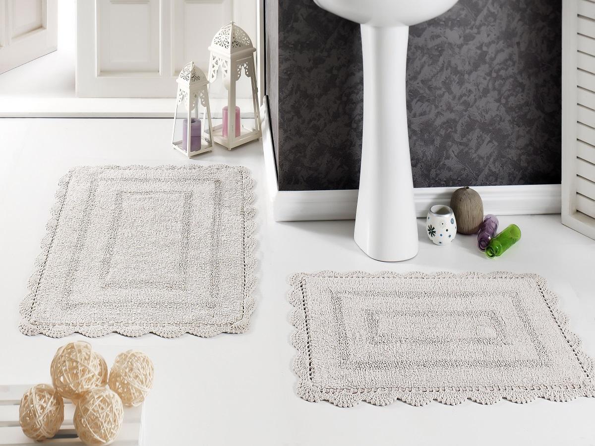 """Набор ковриков для ванной Karna """"Modalin. Evora"""", цвет: кофейный, 2 шт"""