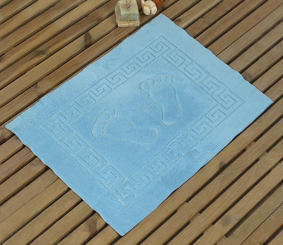 "Коврик для ванной Karna ""Likya"", цвет: бирюзовый, 50 х 70 см"