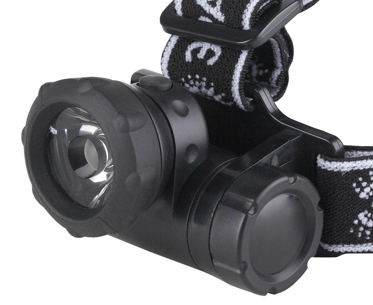 Фонарь налобный Эра, 1W х LED, коллиматор фонарь налобный эра цвет серебристый черный g17