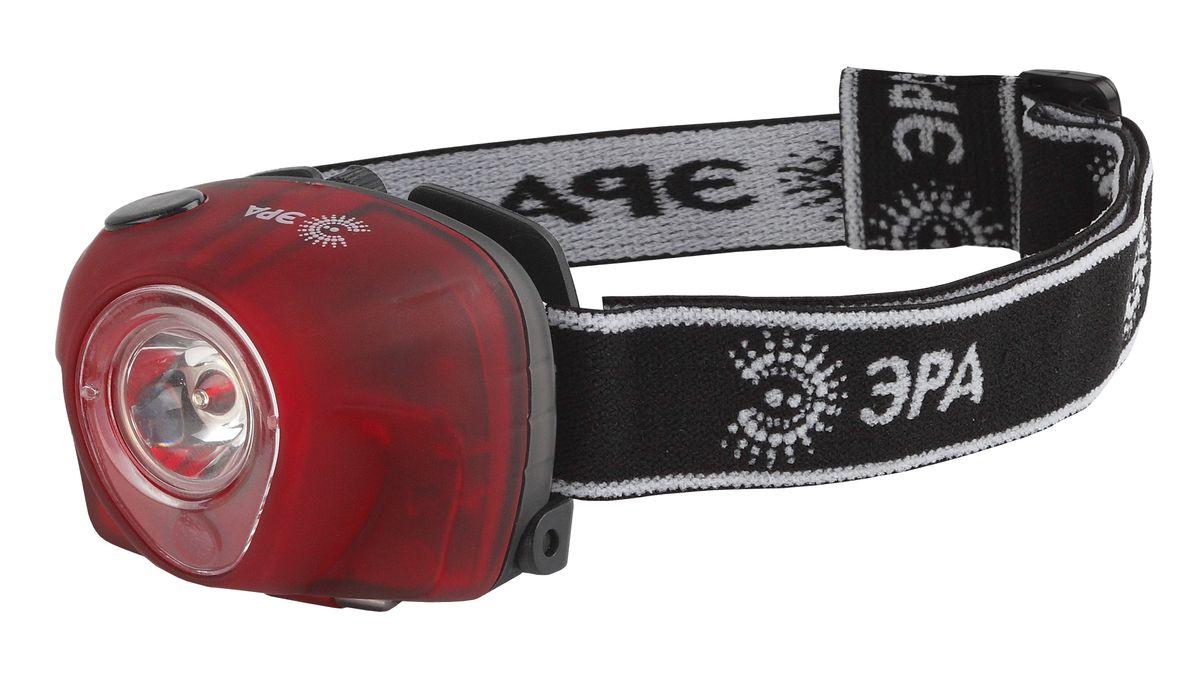 Фонарь налобный Эра, 3 W х LED, коллиматор фонарь налобный эра цвет серебристый черный g17