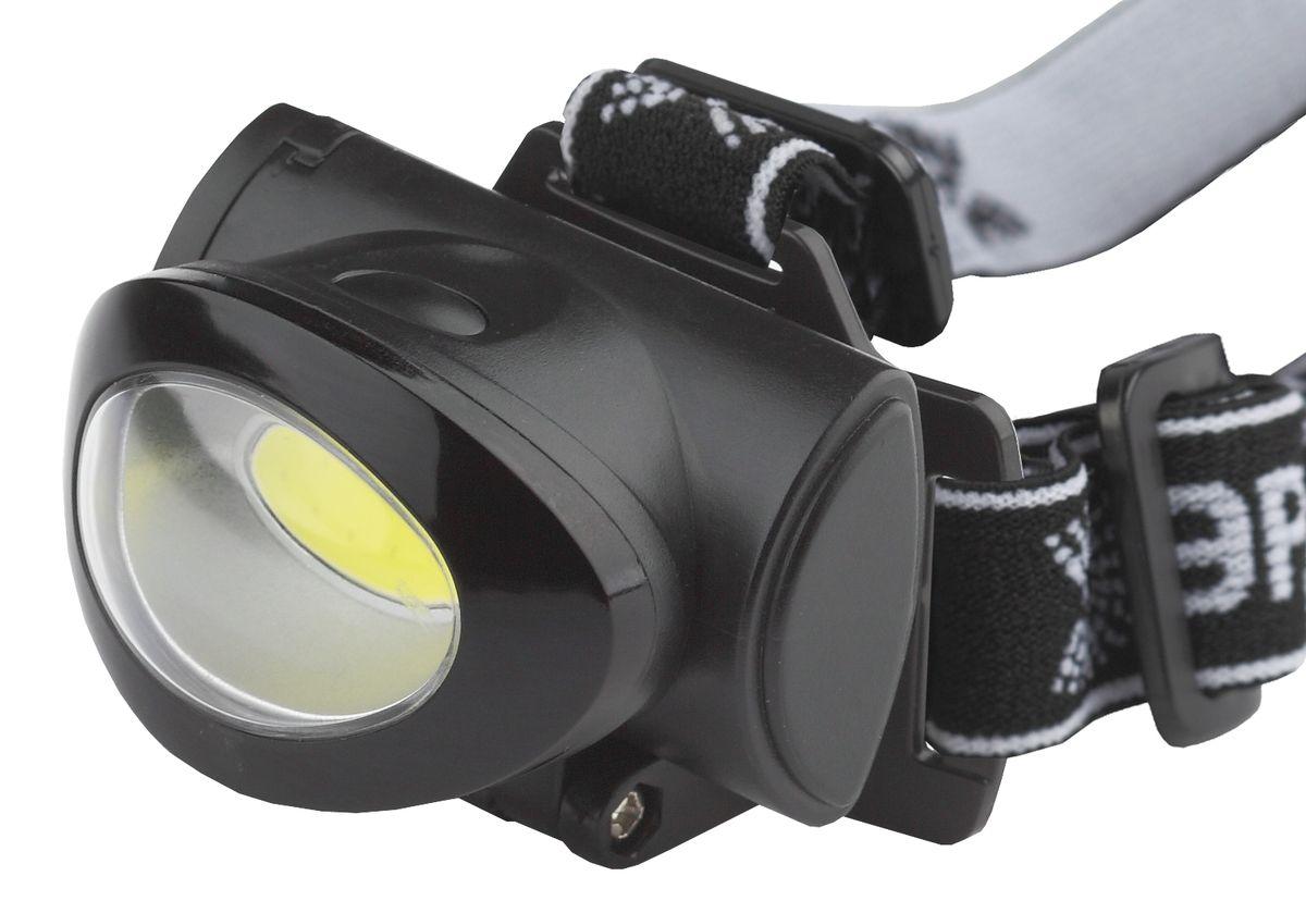 Фонарь налобный Эра, 5 Вт COB, 3 режима фонарь налобный эра цвет серебристый черный g17