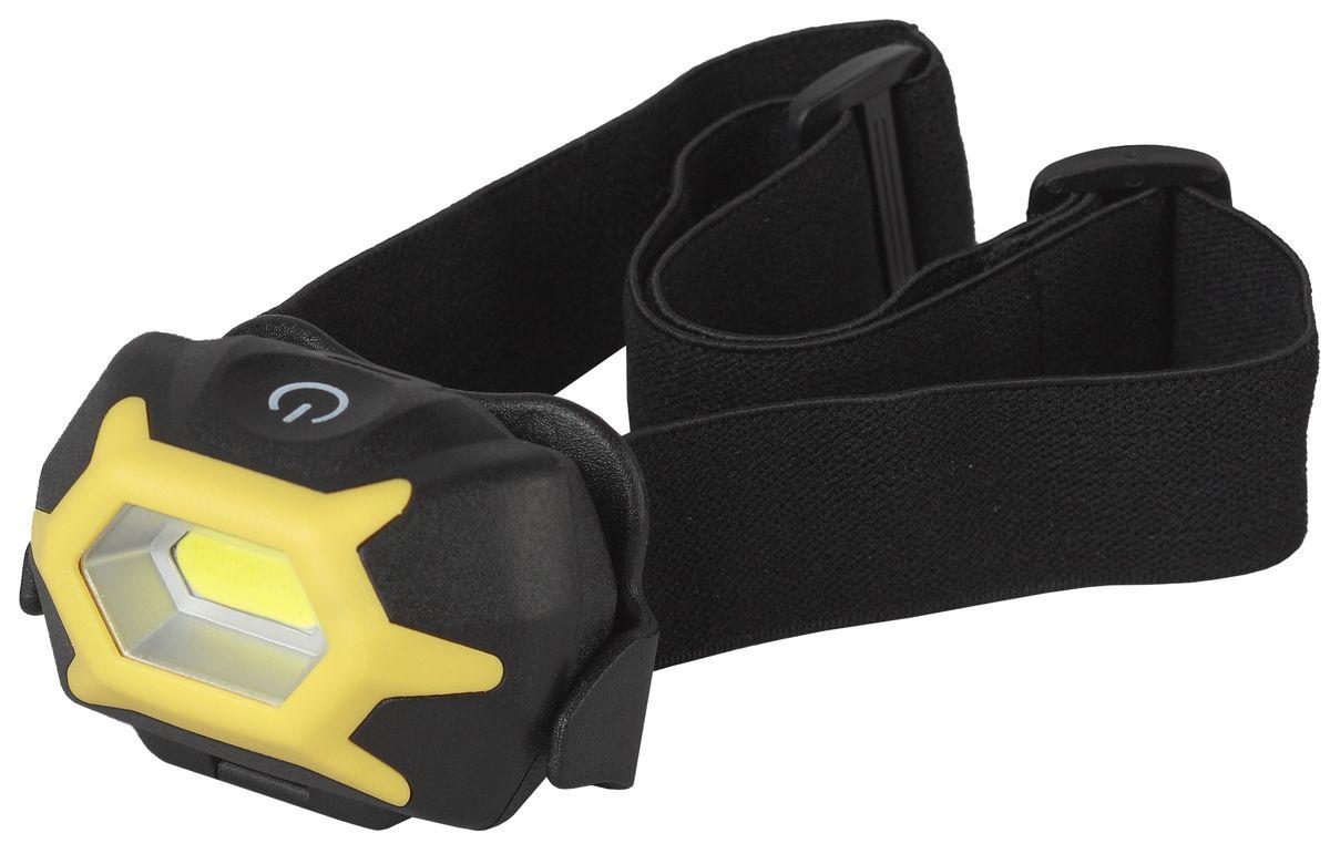 Фонарь налобный Эра Практик, 5 Вт COB, сенсорный фонарь ручной эра купер mb 505 б0030198 черный светодиодный 3 вт