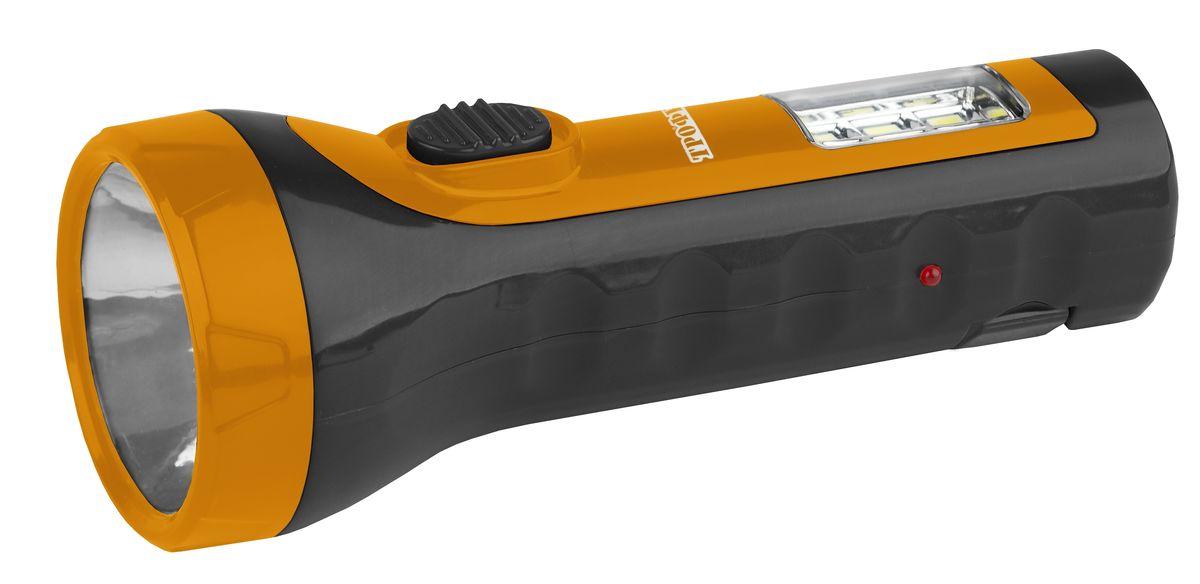 Фонарь ручной Трофи, 5 x LED+6 SMD, аккумулятор 4V 1Ah