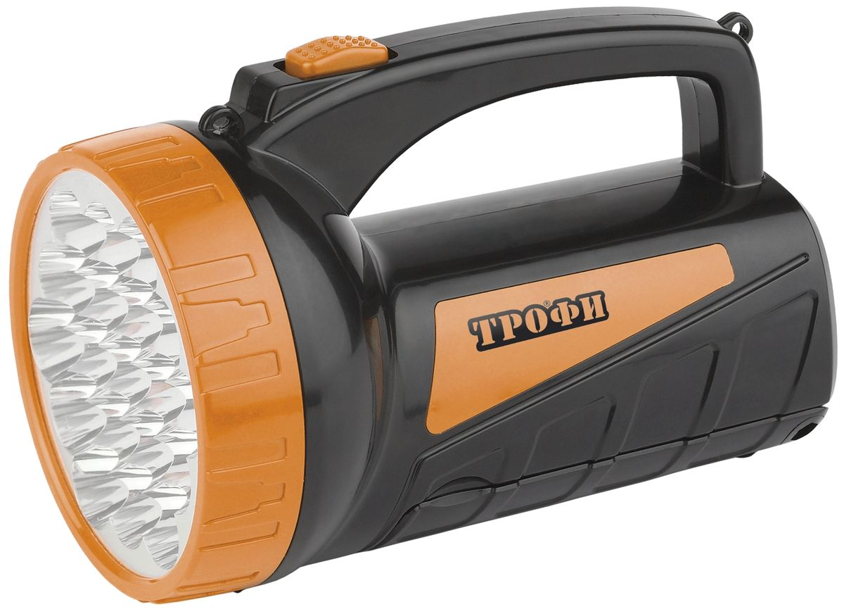 Фонарь ручной Трофи, 19+18 x LED, аккумулятор 4V 2Ah, ЗУ 220V