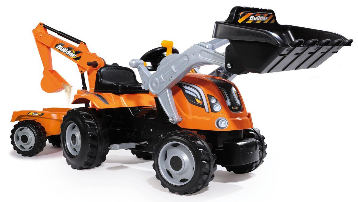 Smoby Трактор педальный строительный Builder Max smoby 710108 трактор педальный xl с прицепом красный