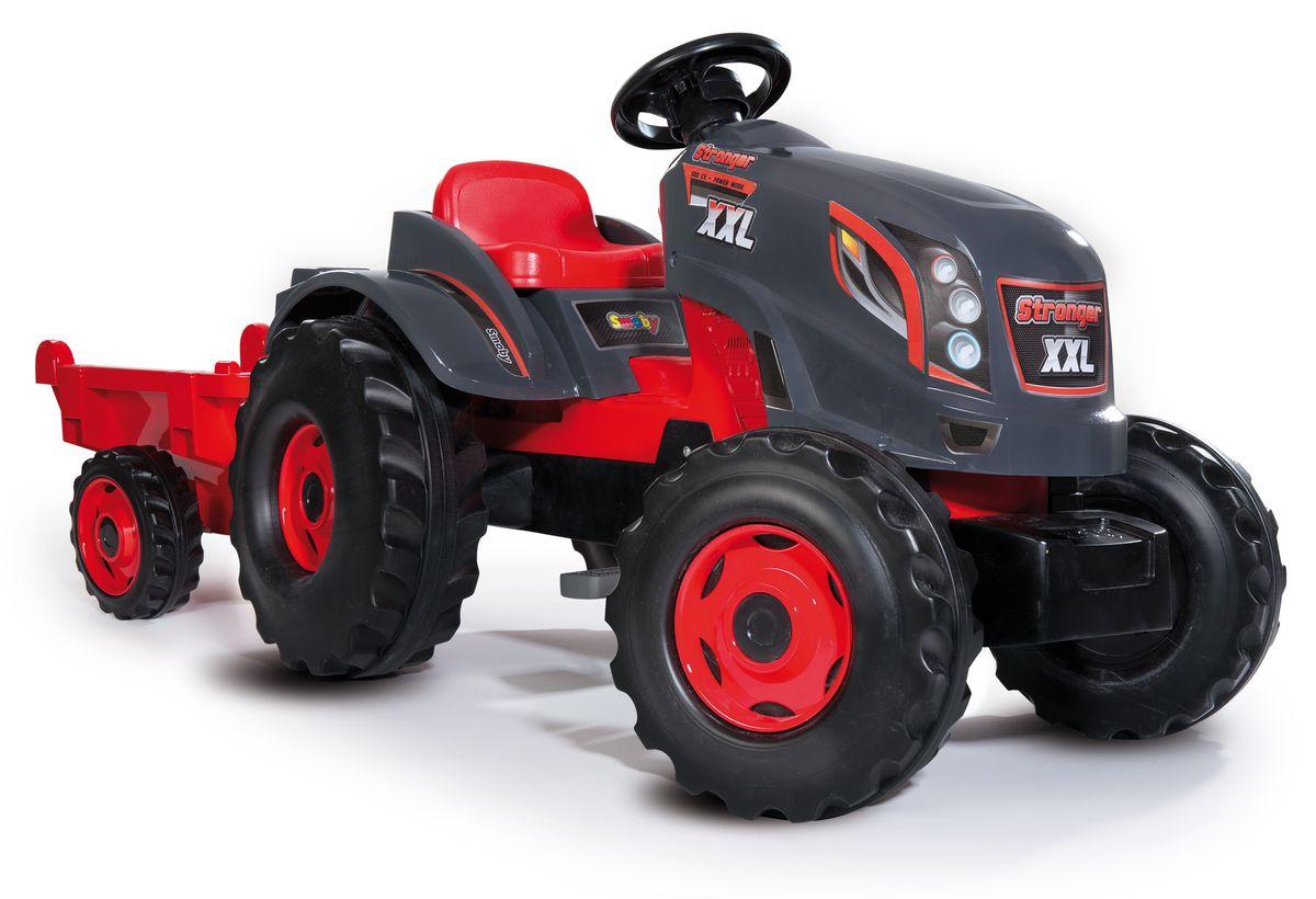 Smoby Трактор педальный Stronger XXL с прицепом smoby 710108 трактор педальный xl с прицепом красный