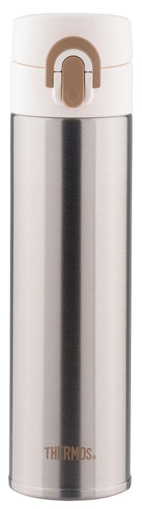Термос Thermos, цвет: стальной, белый, 0,4 л. JNI-400
