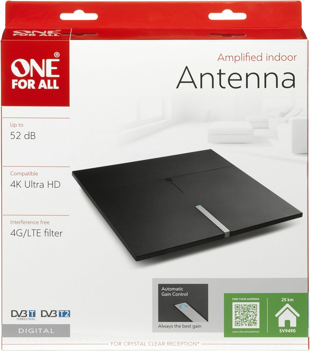 One For All SV9490 Premium Line,комнатная ТВ антенна One For All
