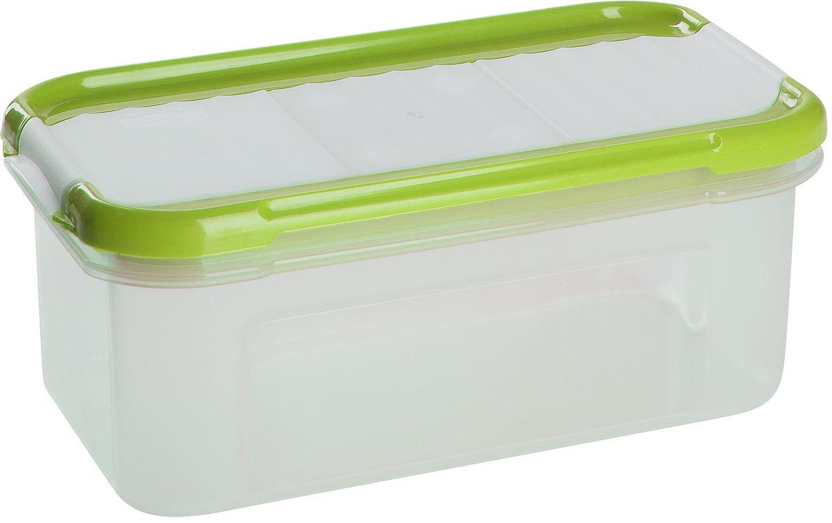 Банка для сыпучих продуктов Giaretti Krupa, с дозатором, цвет: оливковый, прозрачный, 500 мл банка для сыпучих продуктов giaretti krupa с дозатором цвет оливковый прозрачный 750 мл