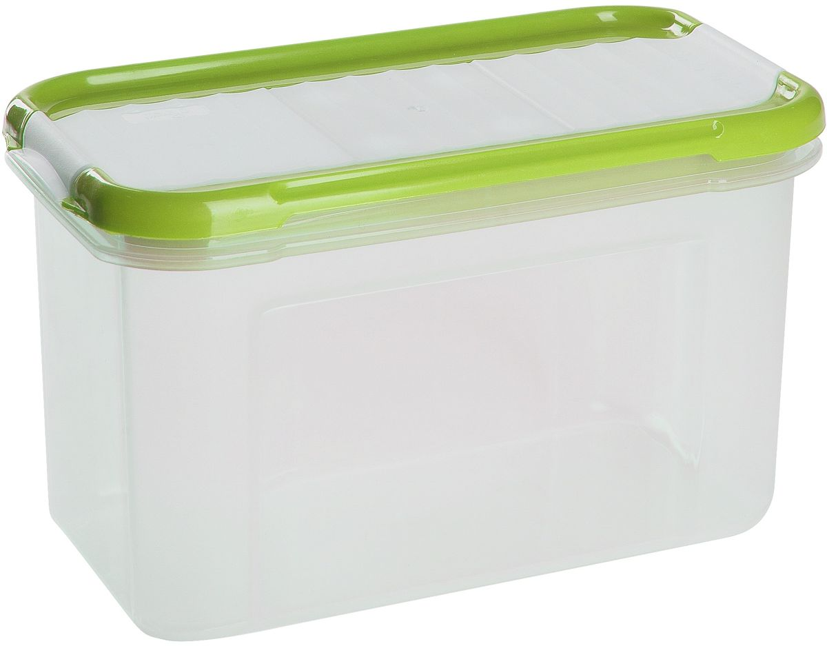 Банка для сыпучих продуктов Giaretti Krupa, с дозатором, цвет: оливковый, прозрачный, 750 мл банка для сыпучих продуктов giaretti krupa с дозатором цвет оливковый прозрачный 1 5 л
