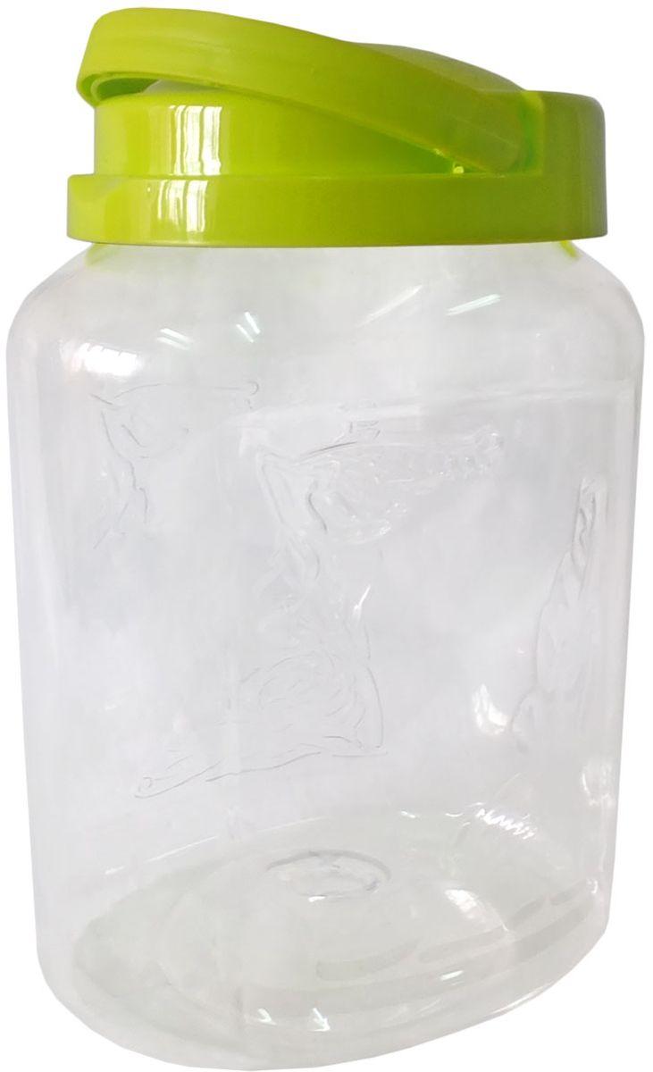 Емкость для хранения Plastic Centre Крок, цвет: светло-зеленый, прозрачный, 2 л емкость для хранения plastic centre сфера цвет светло зеленый прозрачный 2 л