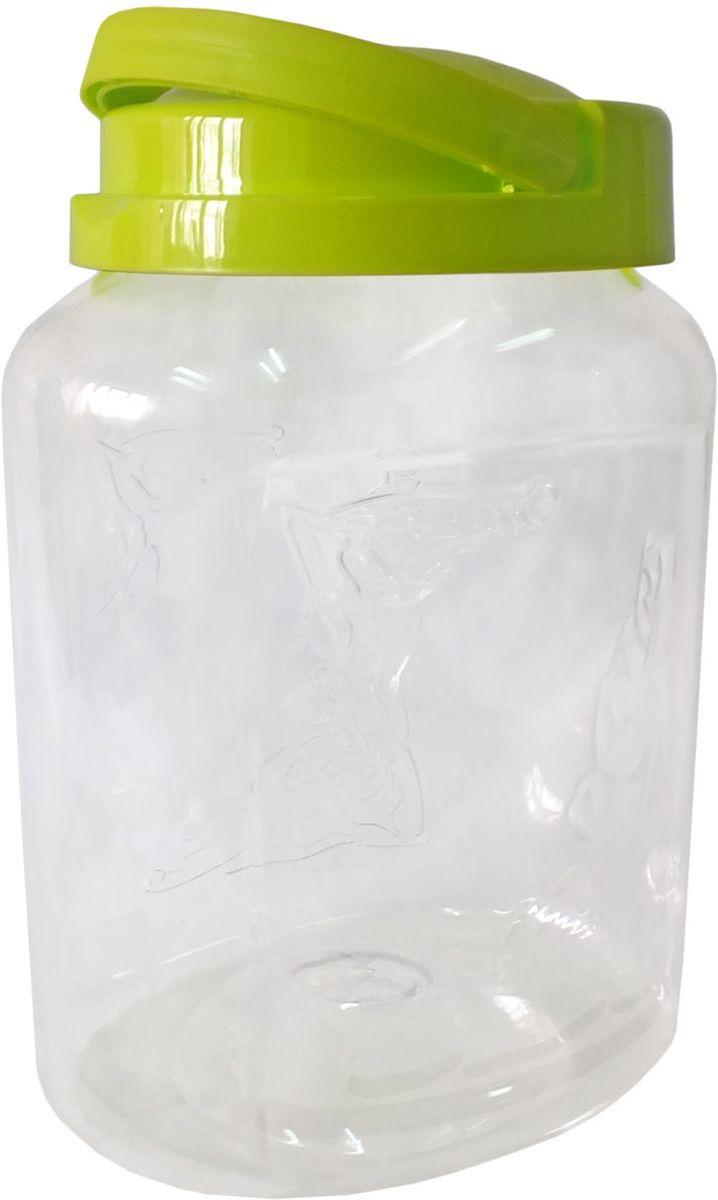 Емкость для хранения Plastic Centre Крок, цвет: светло-зеленый, прозрачный, 3 л емкость для хранения plastic centre сфера цвет светло зеленый прозрачный 2 л