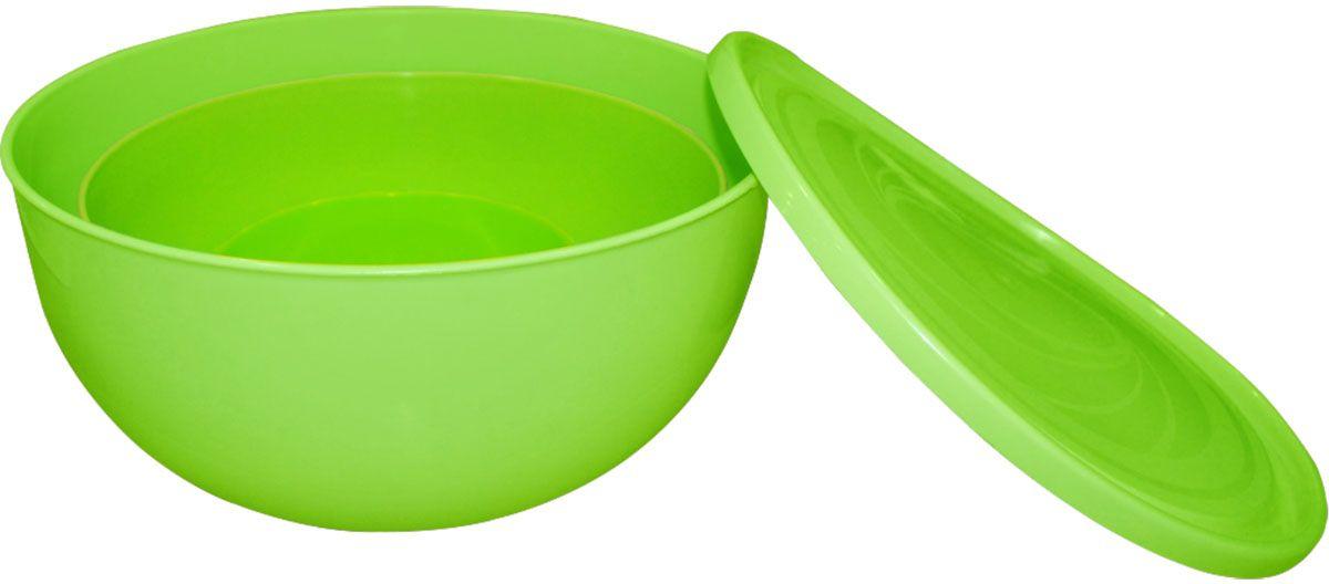 Набор салатников для шашлыка Plastic Centre, цвет: светло-зеленый салатник plastic centre galaxy с крышкой цвет желтый 4 л