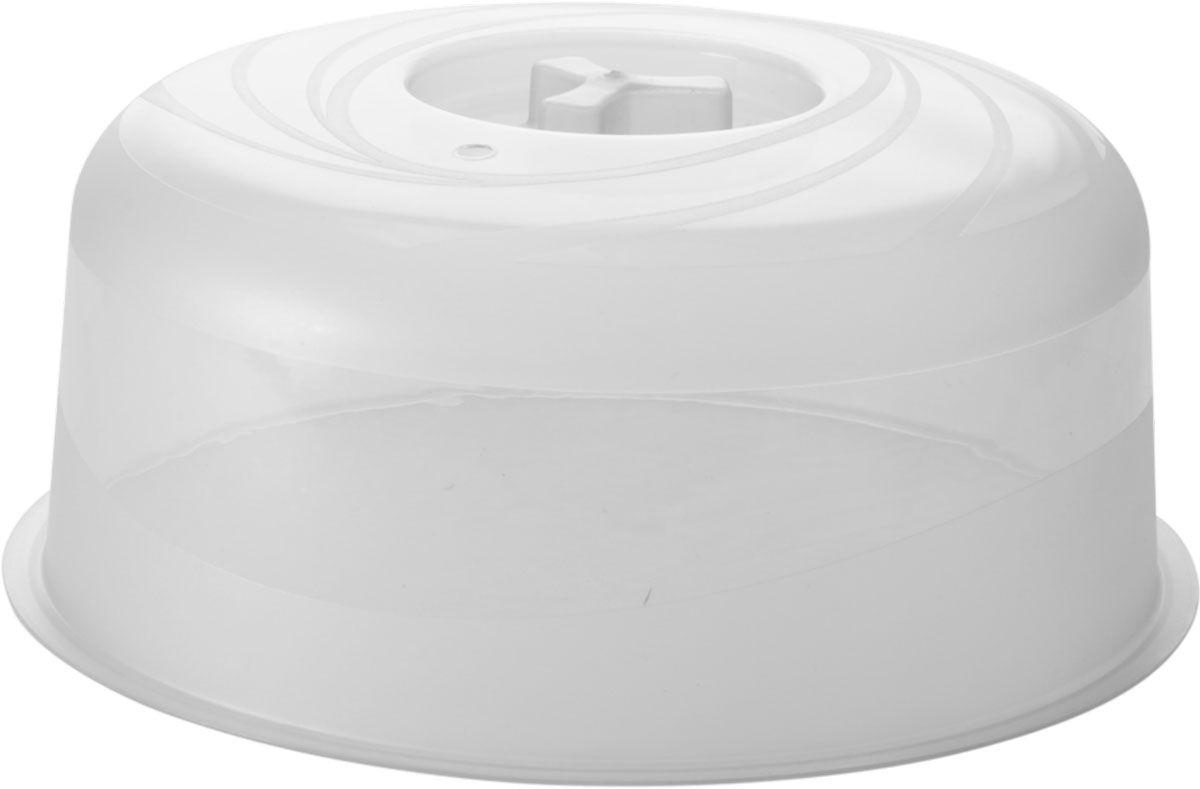 Крышка для СВЧ Plastic Centre Galaxy, цвет: прозрачный, диаметр 22 см крышка для свч plastic centre galaxy 25 см с подставкой
