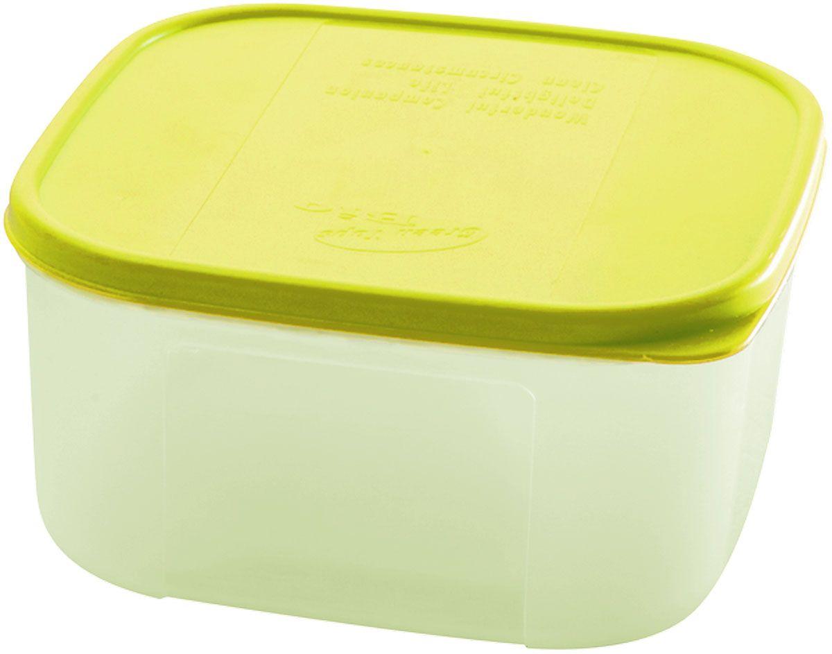 """Емкость для продуктов Plastic Centre """"Bio"""", цвет: светло-зеленый, прозрачный, 1,1 л"""