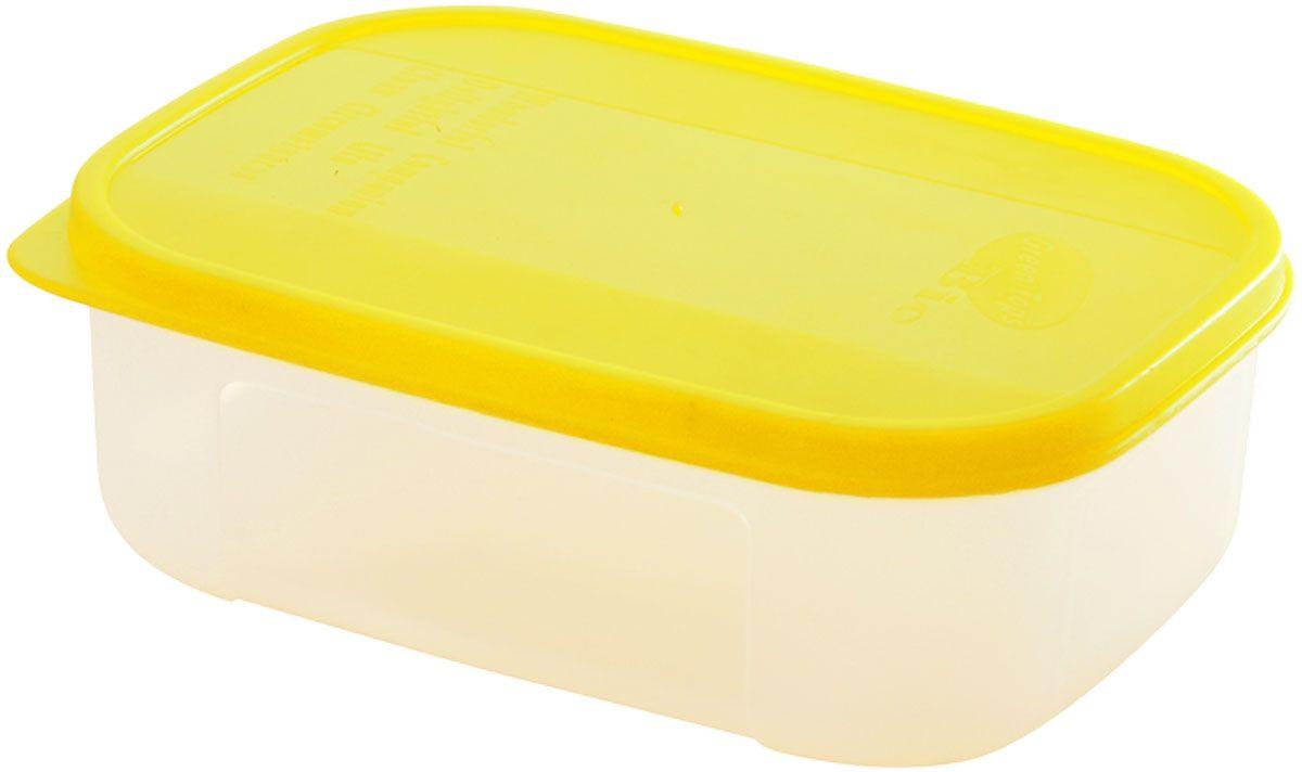 Емкость для продуктов Plastic Centre Bio, цвет: желтый, прозрачный, 0,6 л емкость для хранения plastic centre сфера цвет светло зеленый прозрачный 2 л