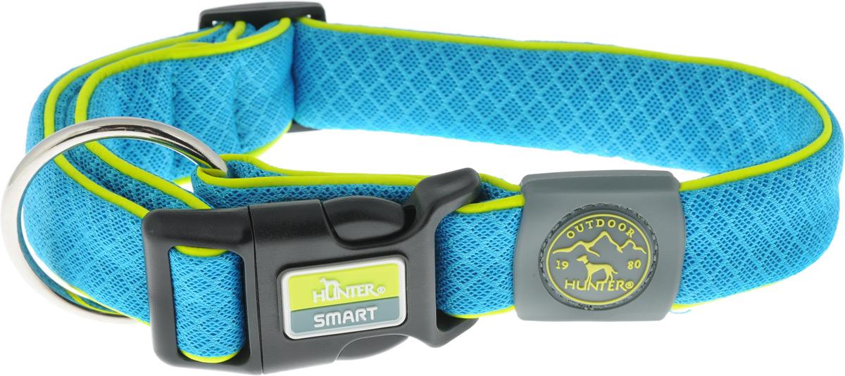 """Ошейник для собак Hunter Smart """"Maui L"""", цвет: голубой, 42-65 см"""
