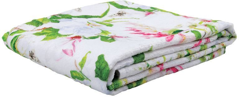 Полотенце банное Mona Liza Magnolia, цвет: белый, 70 х 140 см mona liza mona liza плед monet classic 140 180 пыльная роза