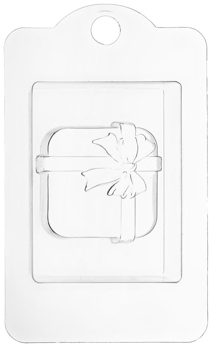 Форма для мыла Выдумщики Коробка с подарками, 6,5 х 6,5 х 1,5 см форма для мыла выдумщики букет тюльпанов пластиковая цвет прозрачный