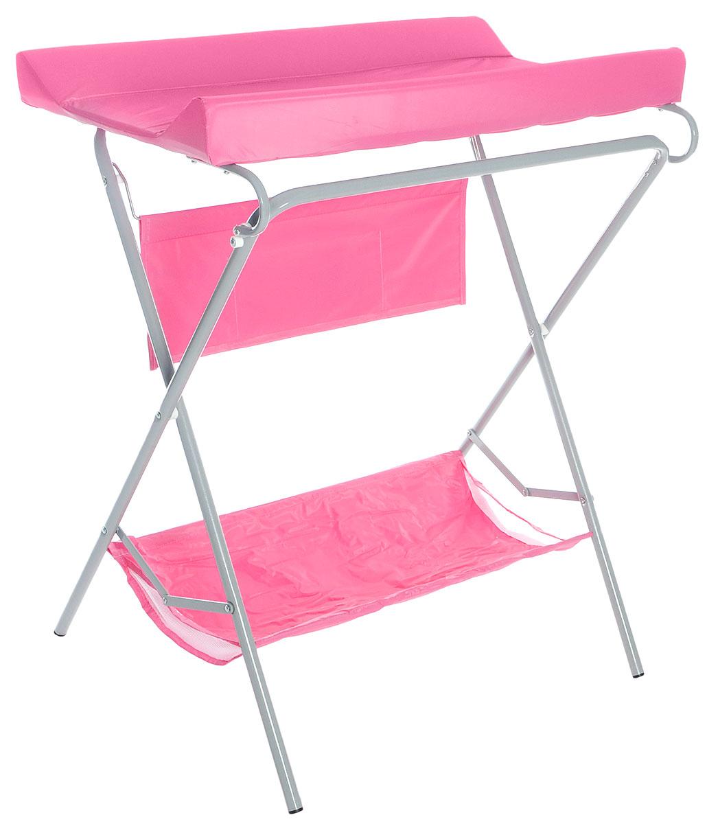Фея Стол для пеленания цвет розовый