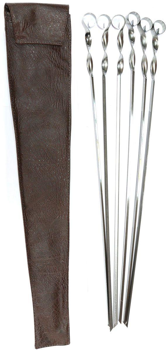 Набор шампуров BG, угловые, длина 560 мм, 6 шт набор угловых шампуров искра 50 см 6 шт