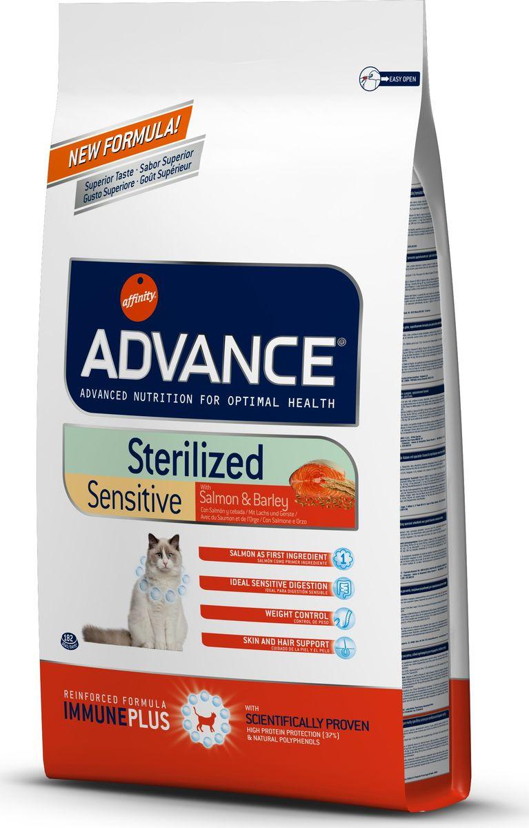 """Корм сухой Advance """"Sterilized Sensitive Salmon"""" для стерилизованных кошек, с лососем, 10 кг"""