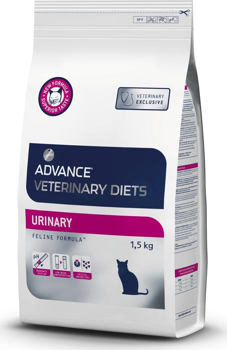 """Корму сухой Advance """"Urinary"""" для кошек при мочекаменной болезни, 1,5 кг"""