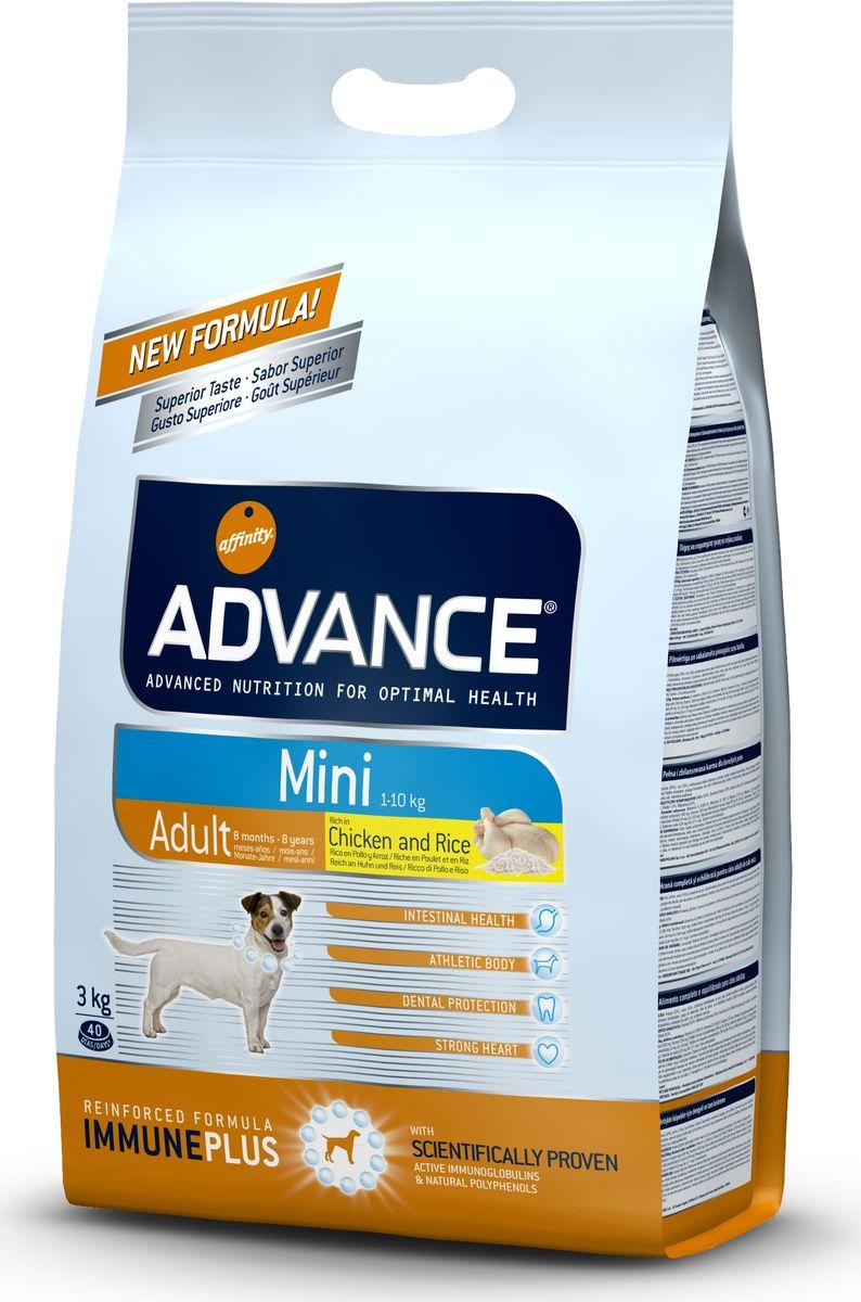"""Корм сухой Advance """"Mini Adult"""" для взрослых собак малых пород с 8 месяцев, 3 кг"""