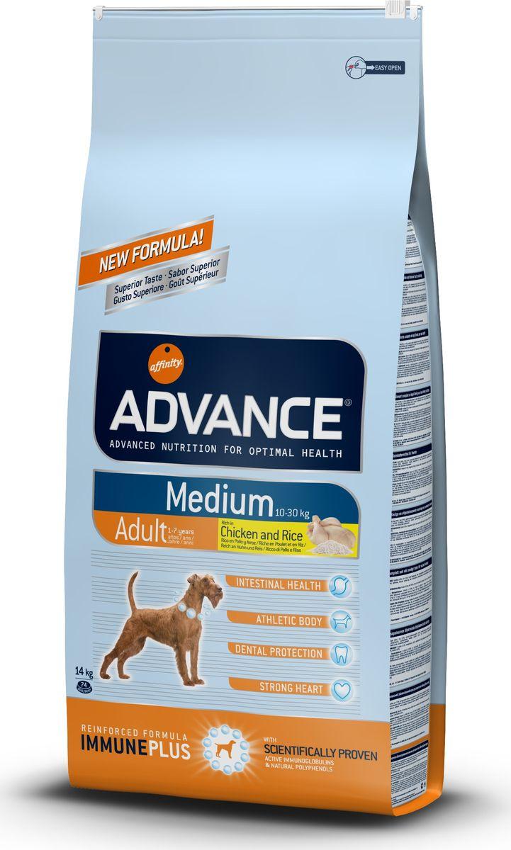 """Корм сухой Advance """"Medium Adult"""" для собак средних пород, с курицей и рисом, 14 кг"""