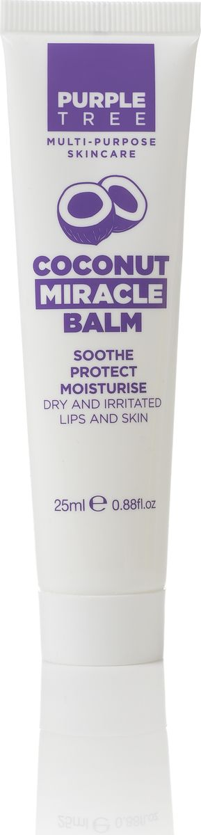 Purple Tree Бальзам для губ Miracle Balm Coconut, 25 мл
