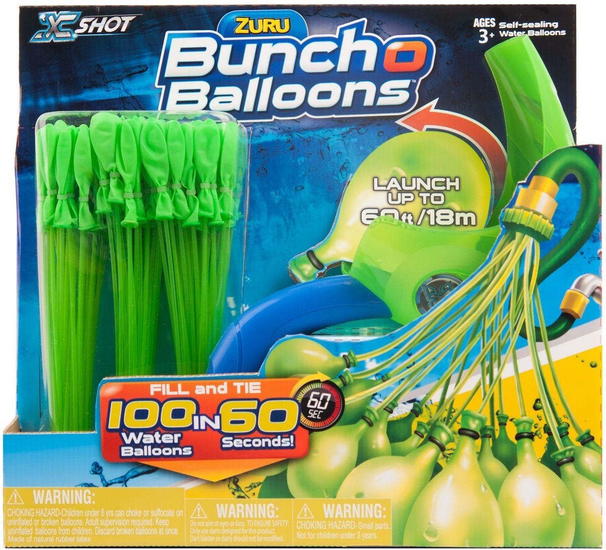 Zuru Водяное оружие Bunch O Balloons с пусковым устройством цвет зеленый игровой набор bunch o balloons zuru стартовый набор миньоны из 100 шаров z5653