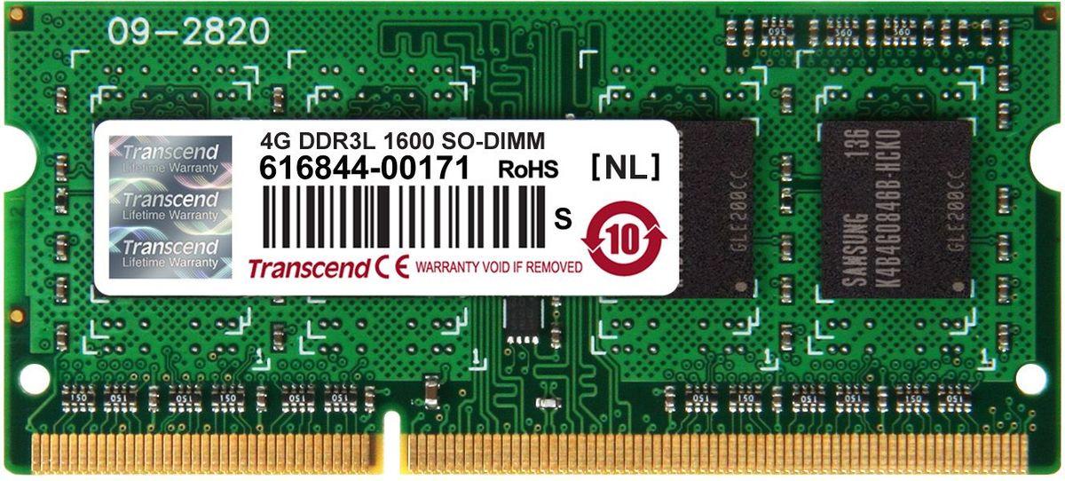 Модуль оперативной памяти Transcend DDR3L SODIMM 4GB 1600МГц