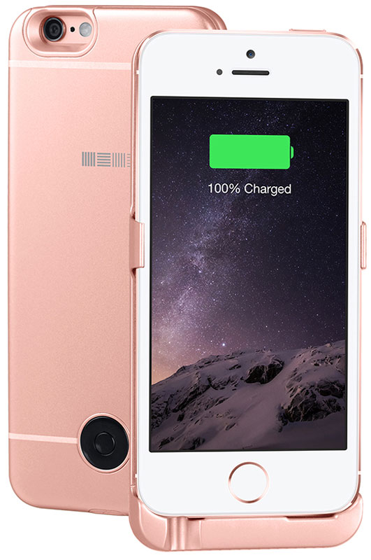 Interstep чехол-аккумулятор для Apple iPhone 5/5s/SE, Rose (2200 мАч) interstep чехол аккумулятор для apple iphone 7 6 red 3000 мач