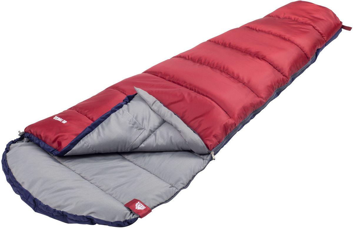 Спальный мешок TREK PLANET Scout Jr, цвет: синий, красный, левосторонняя молния