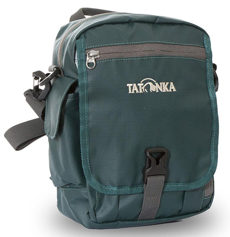 Сумка на плечо Tatonka Check in Clip, цвет: темно-зеленый, 24 x 21 x 8 см сумка дорожная tatonka squeezy duffle