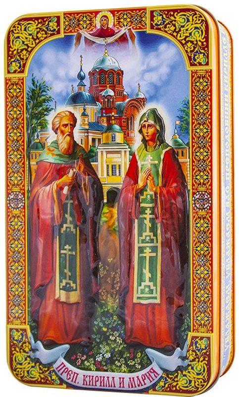 Шкатулка подарочная Преподобные Кирилл и Мария черный листовой чай, 100 г велисовская мария нарисовать боль