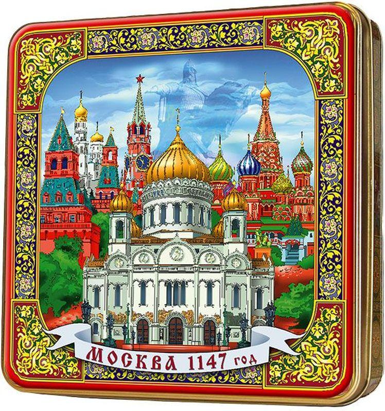 Шкатулка подарочная Москва черный листовой чай PEKOE и OP, 125 г шкатулка подарочная неупиваемая чаша черный листовой чай 100 г