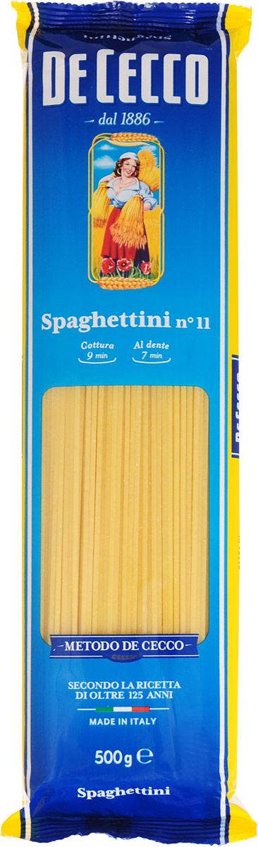 De Cecco паста спагеттини №11, 500 г