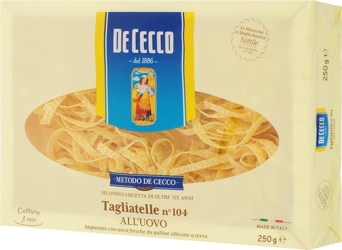 De Cecco паста тальятелле с добавлением яйца №104, 250 г
