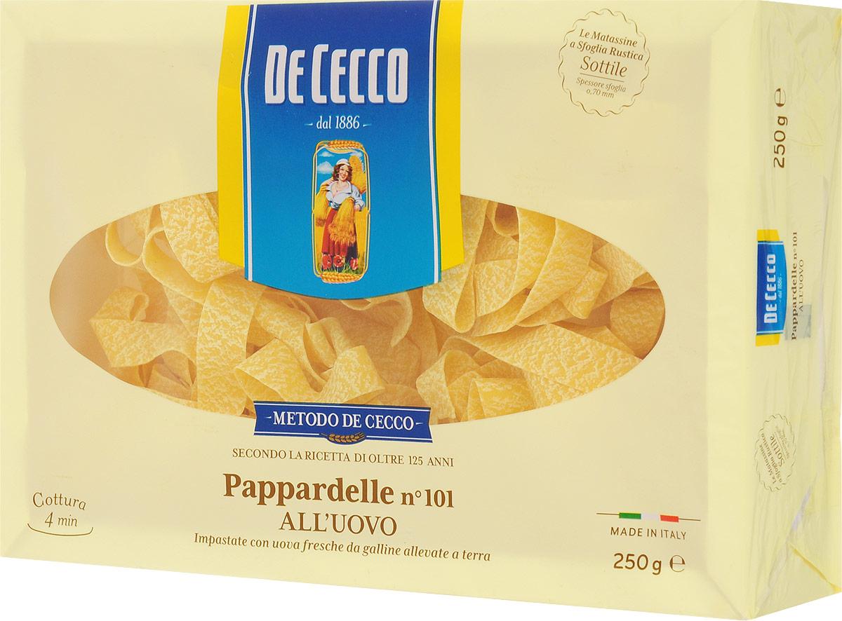 De Cecco паста паппарделле с добавлением яйца №101, 250 г