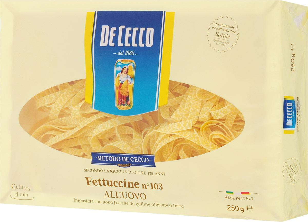 De Cecco паста феттучине с добавлением яйца №103, 250 г
