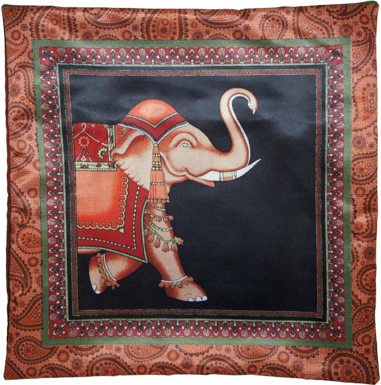Наволочка для декоративной подушки Gift'n'Home Марракеш, цвет: черный, красный, зеленый, 40 х 40 см briggs