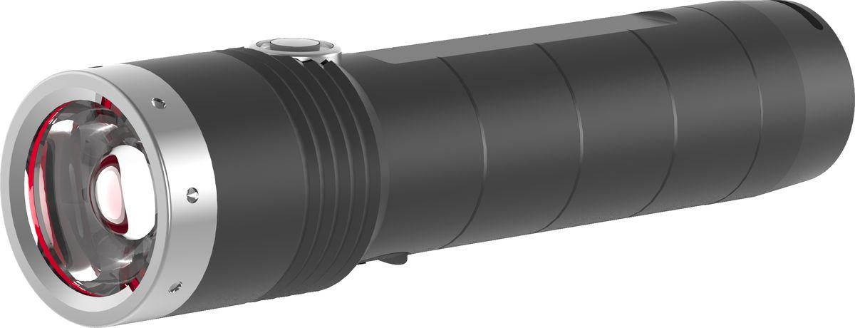 Фонарь LED Lenser MT10, с аккумулятором, цвет: черный. 500843