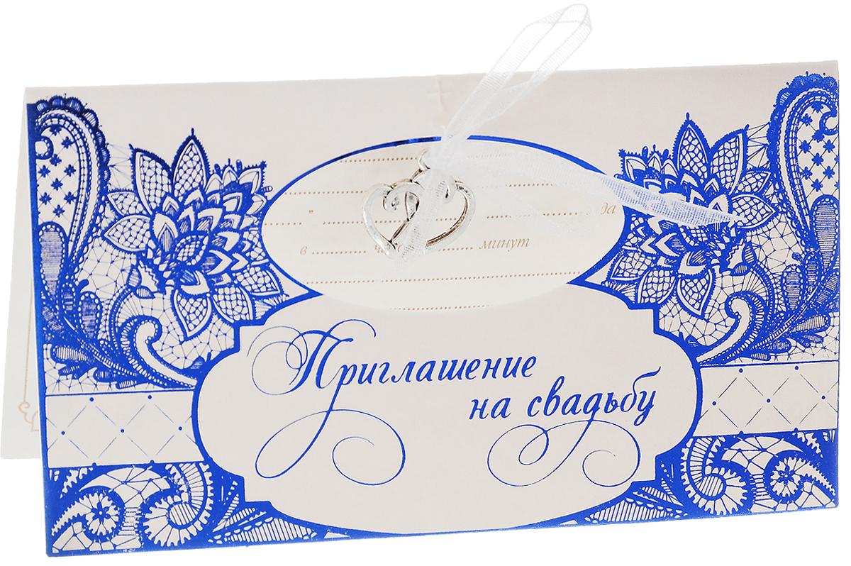 Приглашение на свадьбу Sima-land Цветы, 13 х 7 см открытка sima land в день свадьбы беседка и цветы